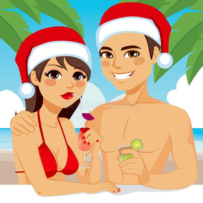 Playa del cóctel de la Navidad libre illustration