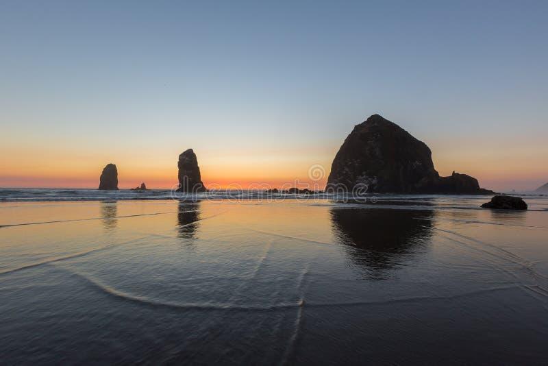 Playa del cañón, Oregon fotos de archivo libres de regalías