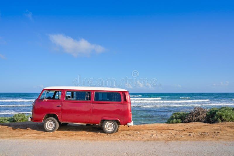 Playa del Caribe de Tulum con el maya de Riviera de la furgoneta fotografía de archivo