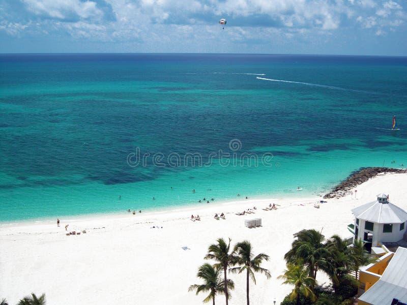 Playa del Caribe del centro turístico fotos de archivo libres de regalías