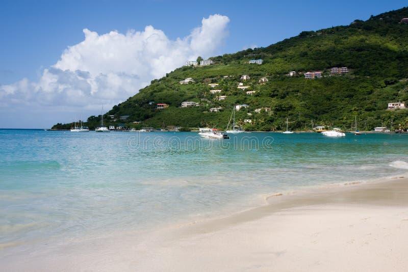 Playa del Caribe, isla de Virgen imagenes de archivo