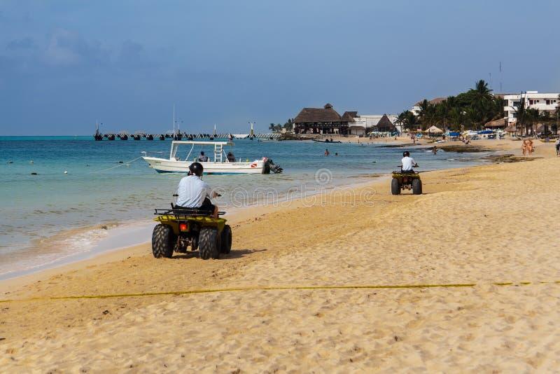 Playa del Carmem Sätta på land Yucatan Mexico fotografering för bildbyråer