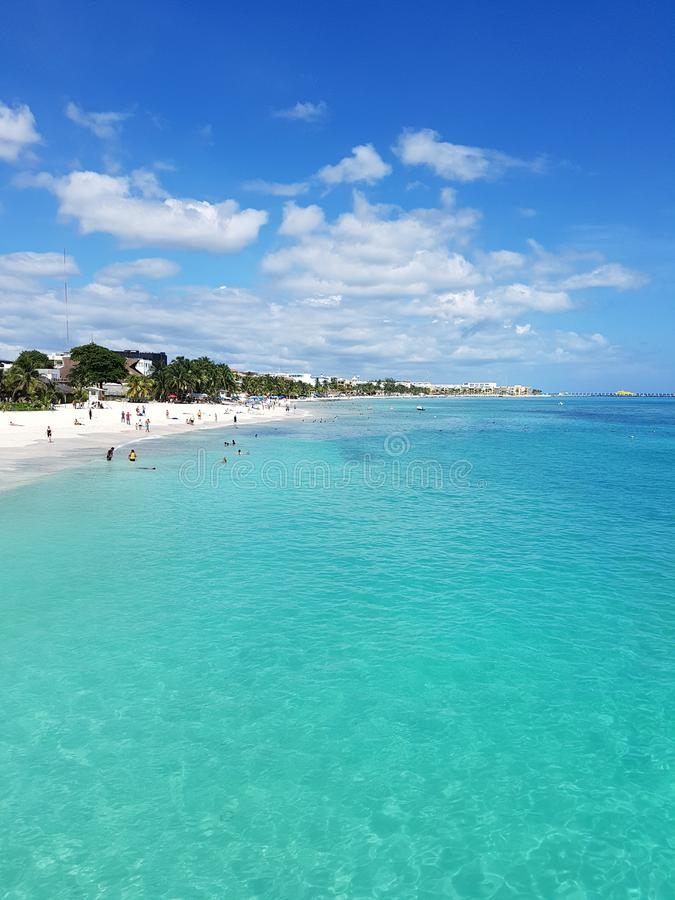 Playa del Carmen lizenzfreies stockbild