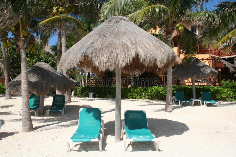 Playa del Carmen Beach in Mexico royalty free stock photos