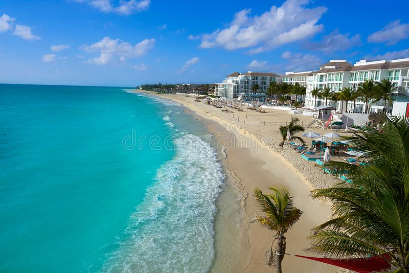 Playa del Carmen beach in Riviera Maya. Near Cancun Mayan Mexico stock photography