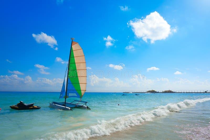 Playa del Playa del Carmen en maya de Riviera fotos de archivo libres de regalías