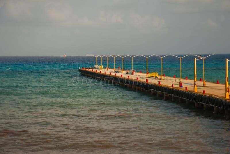 PLAYA DEL CARMEN, MEXICO, Riviera Maya: Bridge with pier stock photos