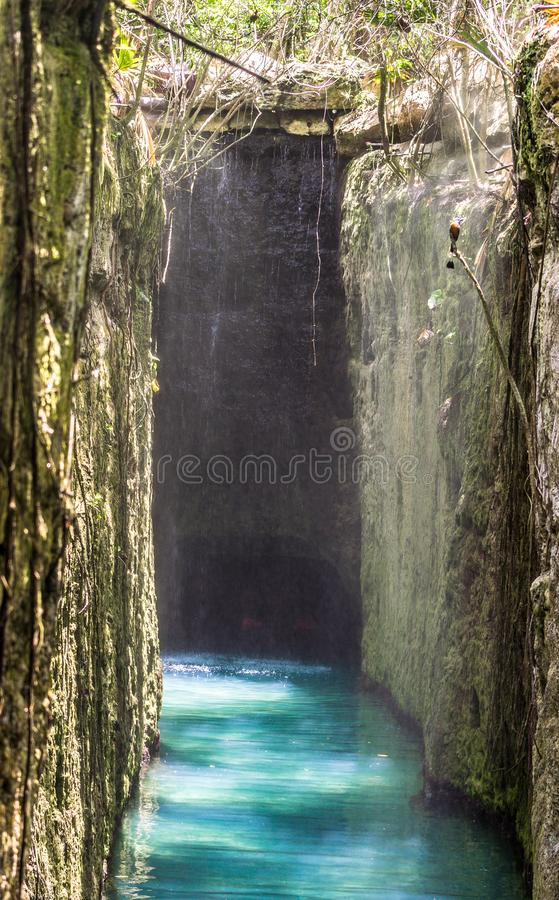 Underground River in Mexico royalty free stock photo