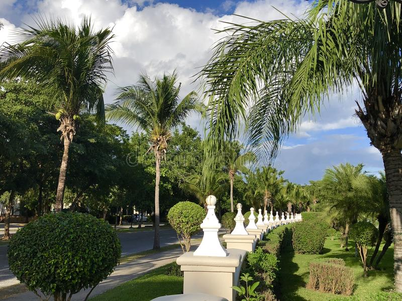 Playacar area in Mexico. Playa del Carmen and Playacar resort area, Mexico royalty free stock image