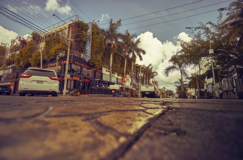 Playa del Carmen Straßen lizenzfreie stockfotografie