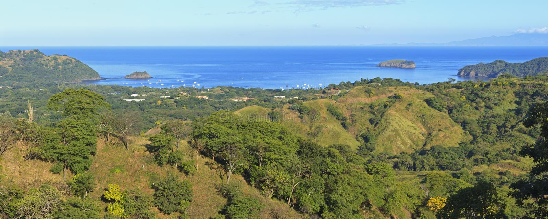 Playa del Coco y Ocotal del Ceiba de Cerro imágenes de archivo libres de regalías