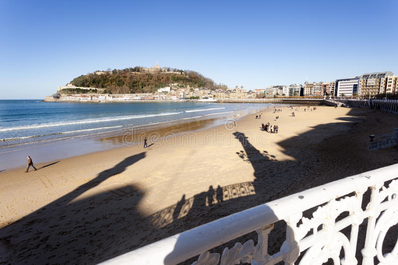 Playa del Concha imagen de archivo libre de regalías