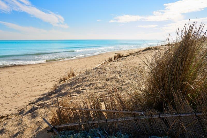 Playa del EL Saler de Valencia en mediterráneo foto de archivo libre de regalías