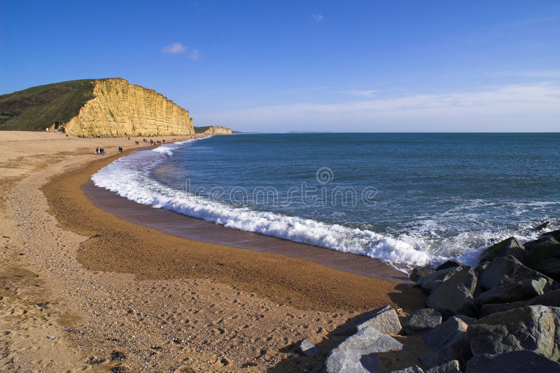 Playa del este de la bahía del oeste fotos de archivo libres de regalías