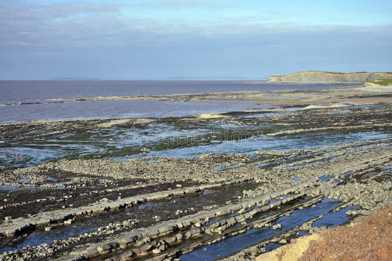 Playa del este de Quantoxhead foto de archivo