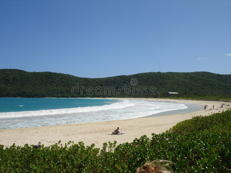 Playa del flamenco, el Caribe, Puerto Rico fotografía de archivo