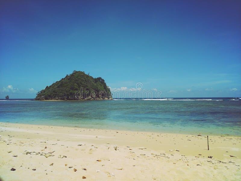 playa del gatra en Malang imagen de archivo