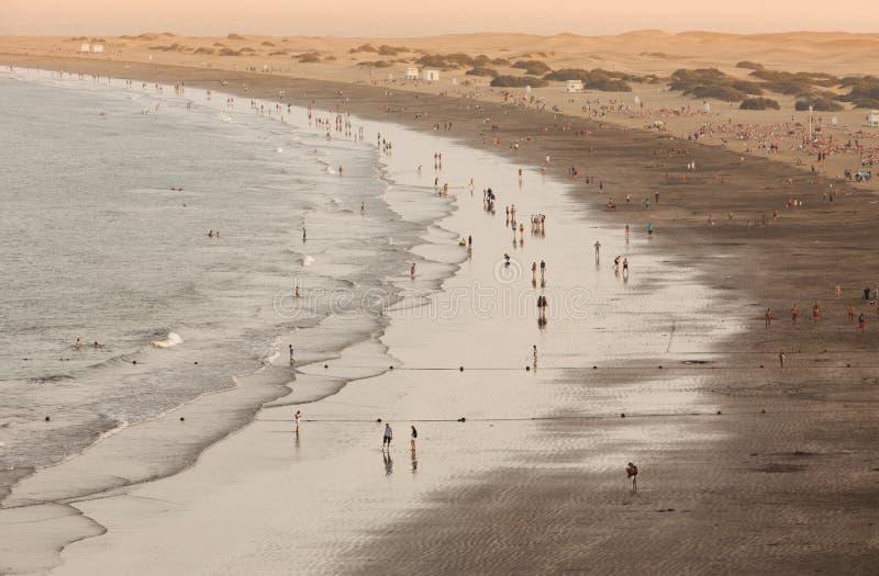 Playa del Inglés no crepúsculo fotografia de stock royalty free