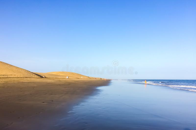 Playa del Ingles on Gran Canaria Island, Canary Islands royalty free stock photo