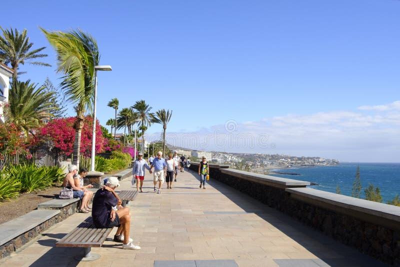 Playa del Ingles in Maspalomas, Gran Canaria, Spanje stock fotografie