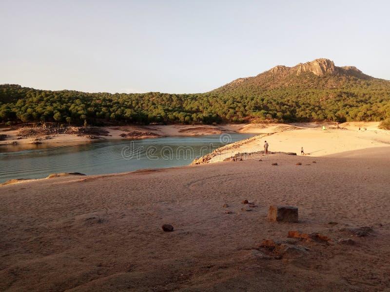 Playa del lago foto de archivo libre de regalías