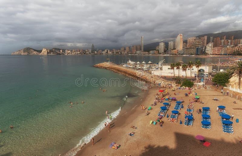 Playa-del Mal Pas-Strand in Benidorm stockfotografie