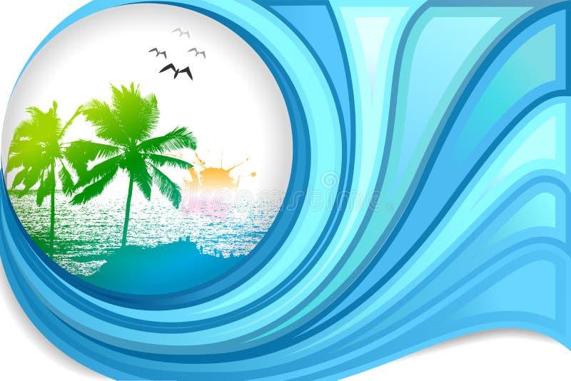 Playa del mar ilustración del vector