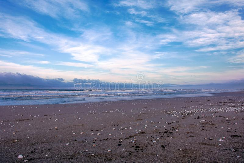 Playa del mar Caspio en la parte norteña de Irán imágenes de archivo libres de regalías