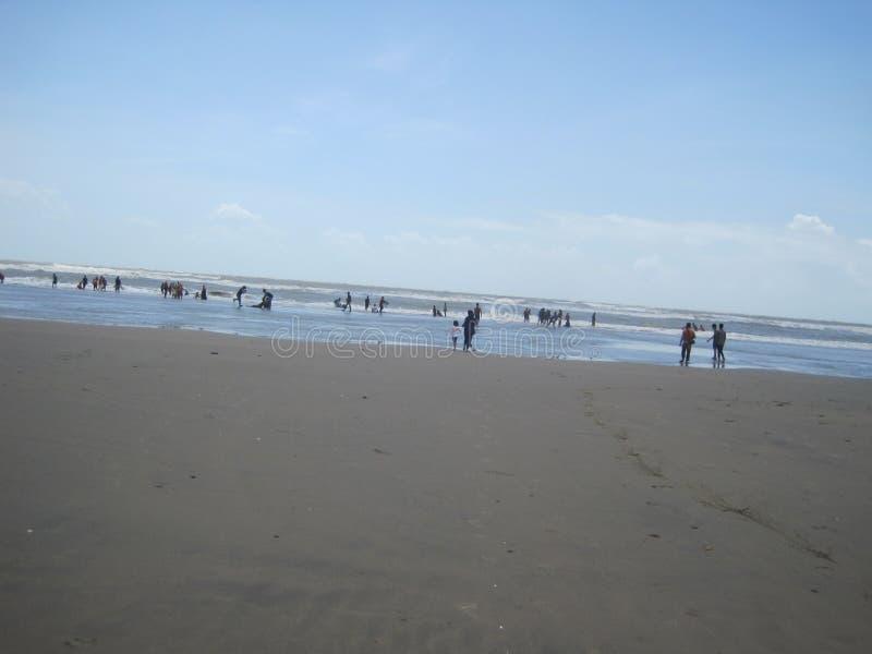 Playa del mar de Cox's Bazar fotos de archivo libres de regalías