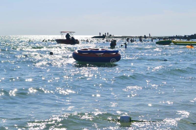 Playa del mar en verano fotografía de archivo