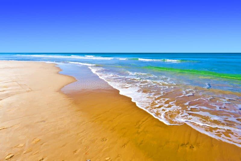 Playa del mar Mediterráneo stock de ilustración