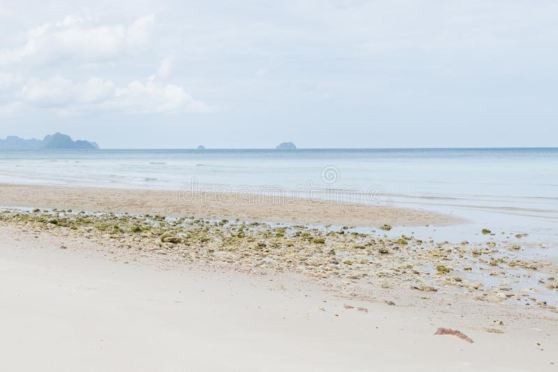 Playa del mar y de la arena imágenes de archivo libres de regalías