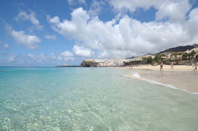 Playa del Matorral, Fuerteventura, Spain stock images