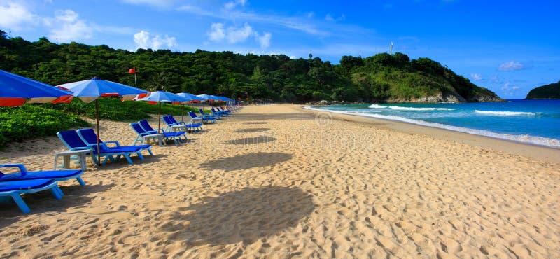 Playa del Nai Harn, Phuket, Tailandia foto de archivo libre de regalías