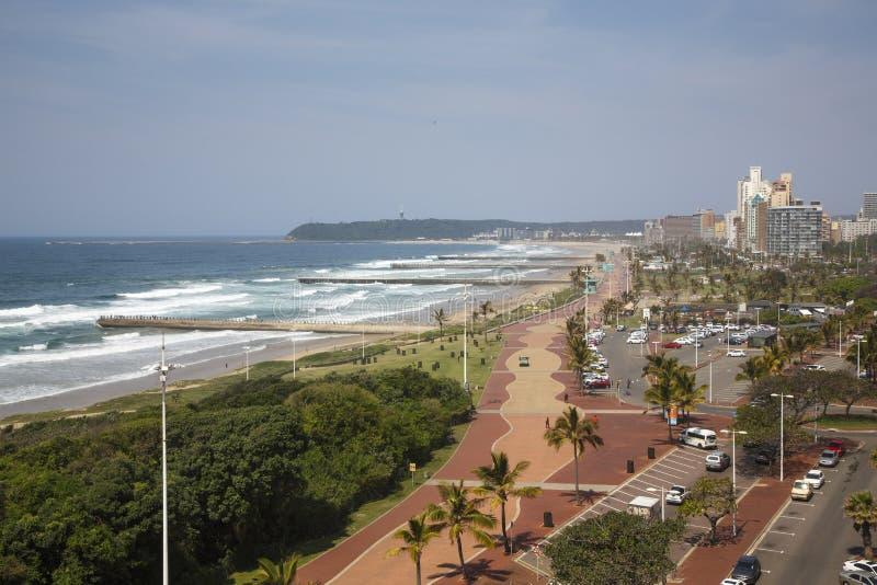 Playa del norte de Durban, Suráfrica fotos de archivo