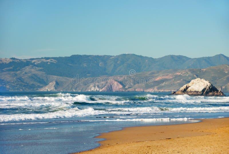 Playa del océano en San Francisco California foto de archivo