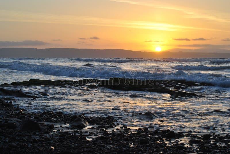 Playa del oeste de Nairn Escocia imagen de archivo libre de regalías