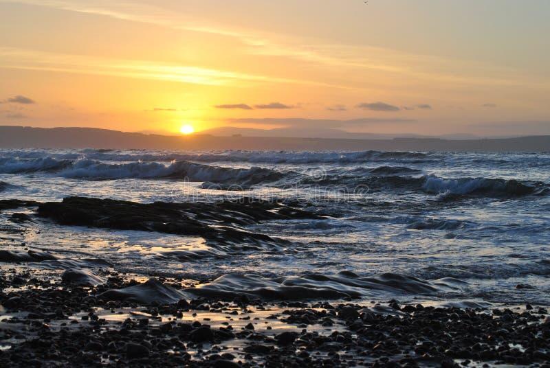 Playa del oeste de Nairn Escocia imágenes de archivo libres de regalías