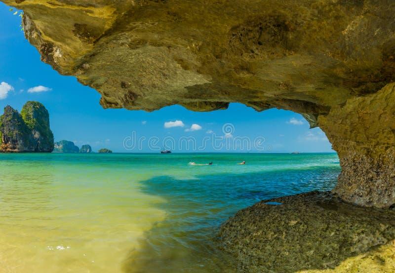 Playa del oeste de Railay en Ao Nang, Krabi Tailandia imágenes de archivo libres de regalías