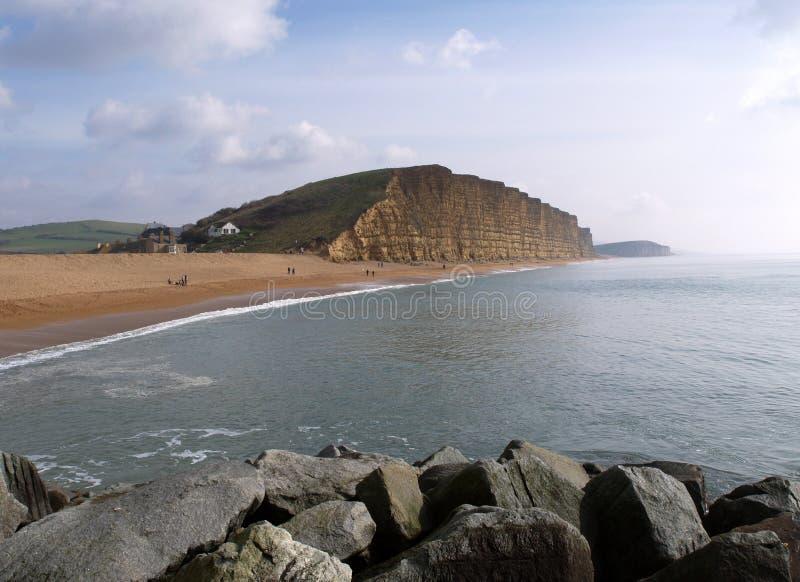 Playa del oeste Dorset de la bahía imágenes de archivo libres de regalías