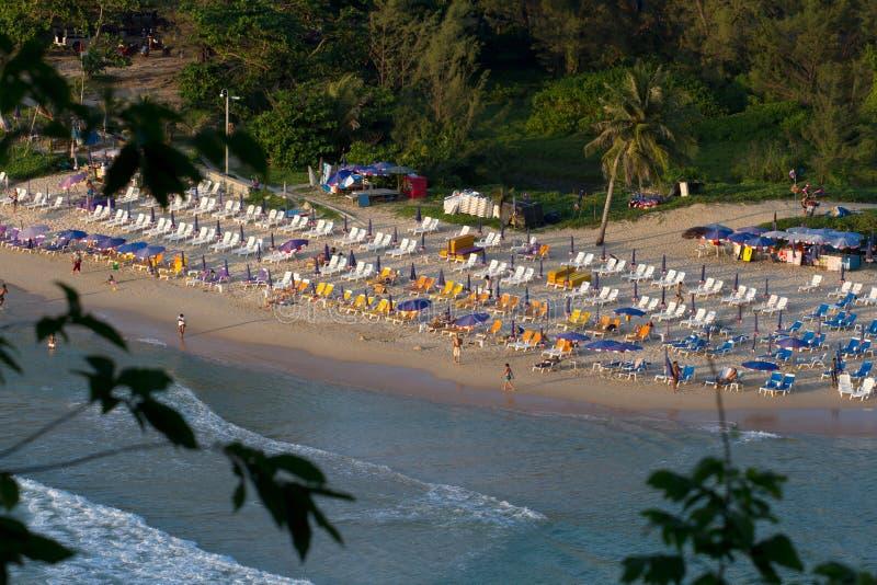 Playa del público de Nai Harn imagen de archivo