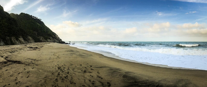 Playa del panorama fotos de archivo
