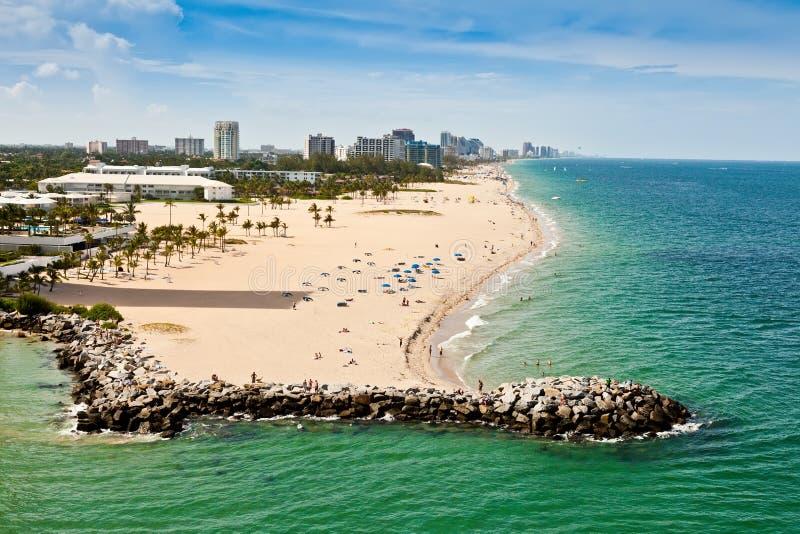Playa del pie Lauderdale foto de archivo