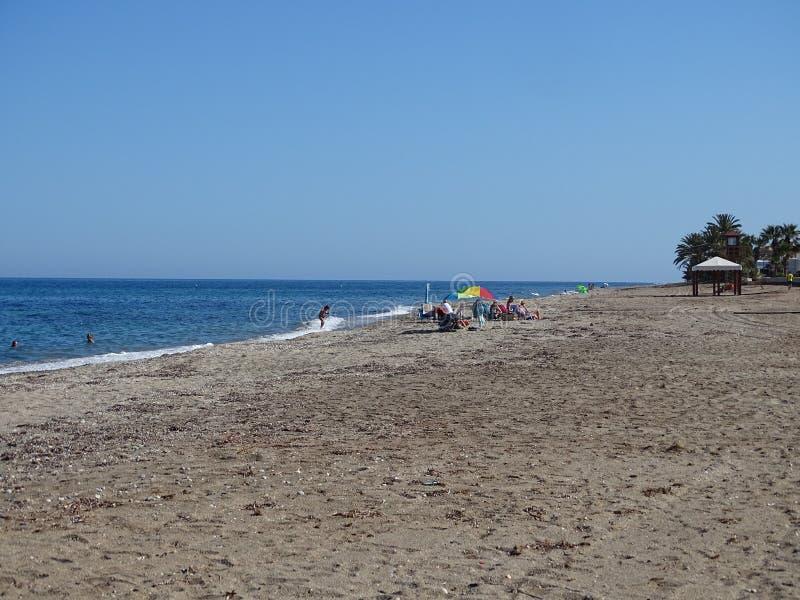 Playa del Pozo de Esparto de Cuevas del Almanzora Almeria Andalusia Spain imagen de archivo