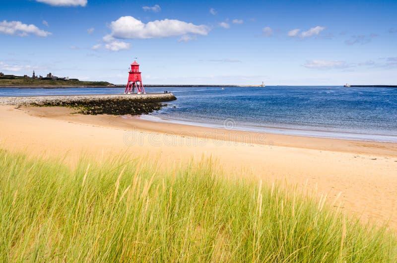 Playa del río Tyne en los escudos del sur imágenes de archivo libres de regalías