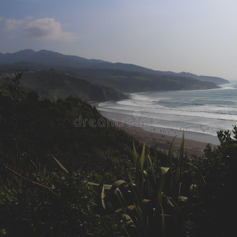 Playa del raglán, Nueva Zelanda imagen de archivo