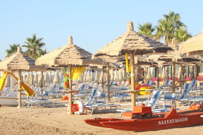 Playa del salvavidas foto de archivo libre de regalías