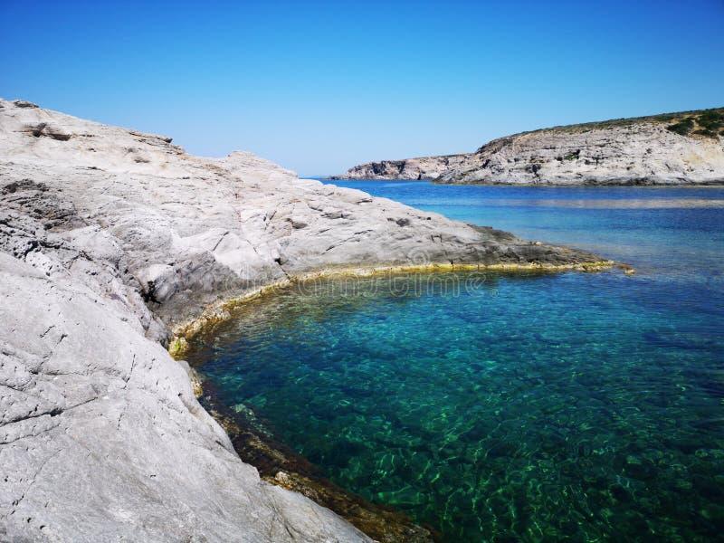Playa del sapone de Cerdeña Cala en Sant& x27; Isla de Antioco imagen de archivo libre de regalías