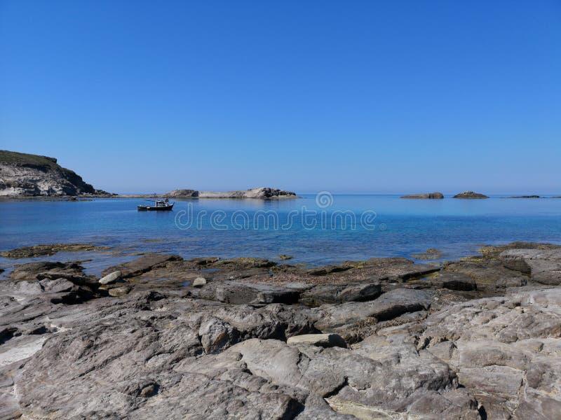 Playa del sapone de Cerdeña Cala en Sant& x27; Isla de Antioco foto de archivo
