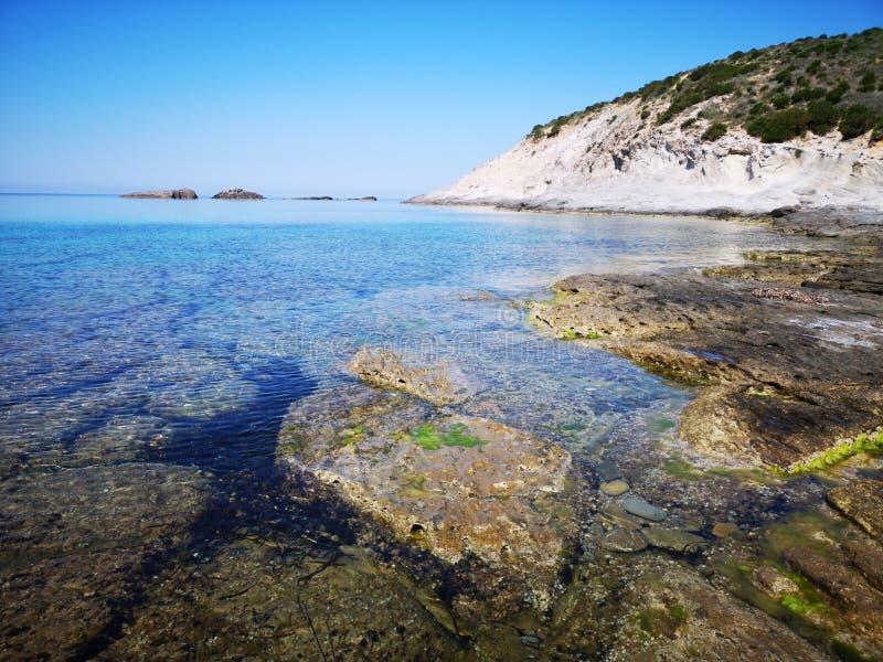 Playa del sapone de Cerdeña Cala en Sant& x27; Isla de Antioco foto de archivo libre de regalías